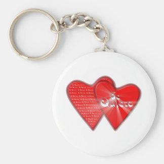 San Valentin es el dia de los enamorados Llavero Redondo Tipo Chapa
