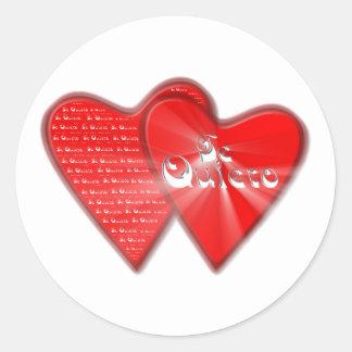 San Valentin es el dia de los enamorados Pegatinas Redondas