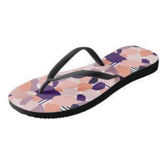 Sandalias de baño en la Terrazzo design de lila,