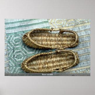 Sandalias de la paja poster