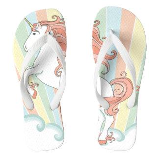 Sandalias del fracaso de tirón del unicornio del