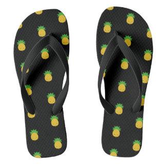 Sandalias dulces del balanceo del negro de la piña