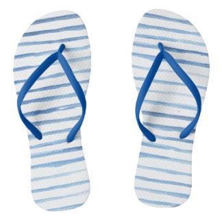 Sandalias pintadas de las rayas