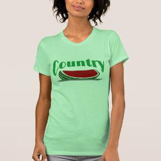 Sandía del país camisetas