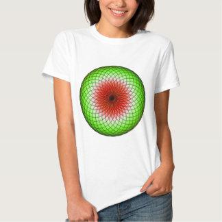 Sandía geométrica camisetas