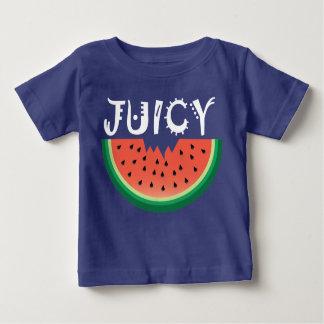 Sandía jugosa - camiseta fina del jersey del bebé