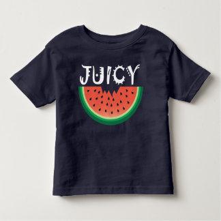 Sandía jugosa - camiseta fina del jersey del niño