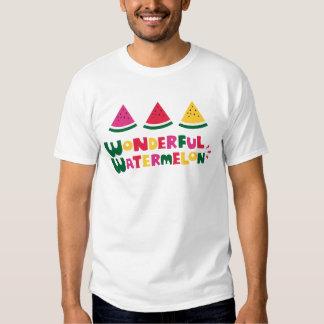 Sandía maravillosa camisas