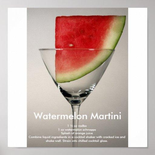 Sandía Martini Poster