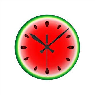Sandía redonda reloj redondo mediano