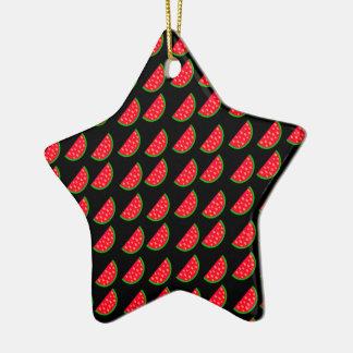 Sandías brillantes de la comida campestre del adorno de cerámica en forma de estrella