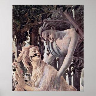 Sandro Botticelli - ninfa perseguida por el Zephyr Poster
