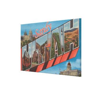 Sandy, letra ScenesSandy, UT de UtahLarge Impresiones En Lona