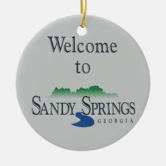 Sandy Springs, Atlanta, Felices Navidad usted Adorno De Cerámica