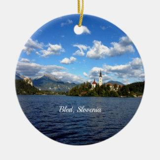 Sangrado, Eslovenia--fotografía del paisaje Adorno De Cerámica