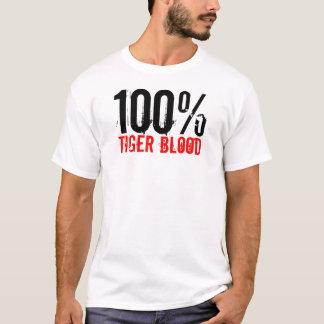 Sangre 100% del tigre camiseta