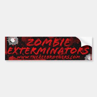 Sangre de los Exterminators del zombi y pegatina Pegatina Para Coche