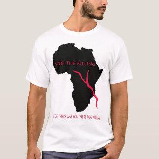 Sangre del mapa de África de la camiseta