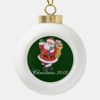 Santa 2013 adorno de cerámica en forma de bola