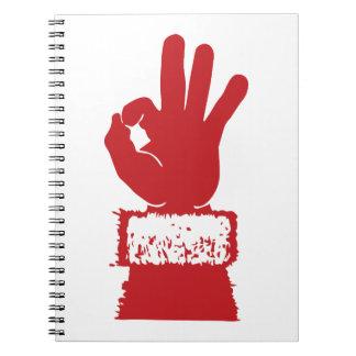Santa aceptable cuaderno