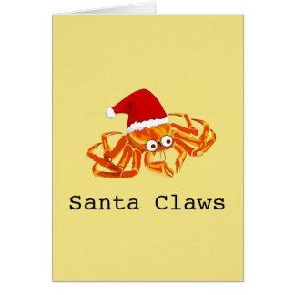 """Santa adaptable divertido agarra"" navidad Tarjeta"