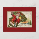 Santa antiguo con el tubo, Felices Navidad
