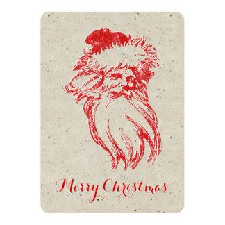 Santa apenó falso estilo de la prensa de copiar invitación 12,7 x 17,8 cm