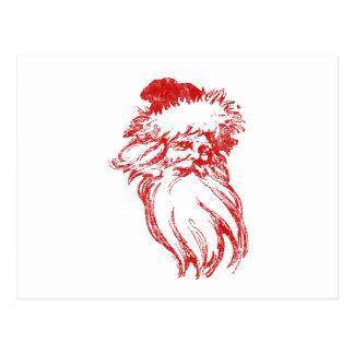 Santa apenó falso estilo de la prensa de copiar postales