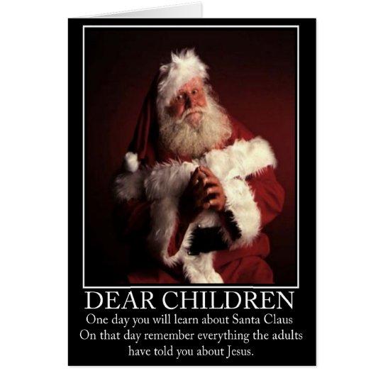 Santa ateo divertido tarjeta de felicitación