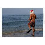 Santa bucea tarjeta de Hawaii
