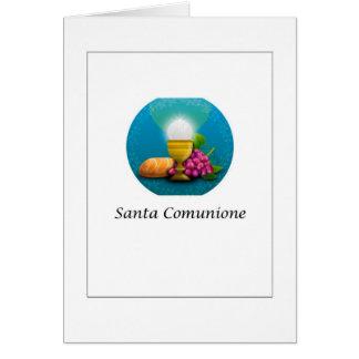 Santa Comunione - comunión santa en italiano Tarjeta De Felicitación