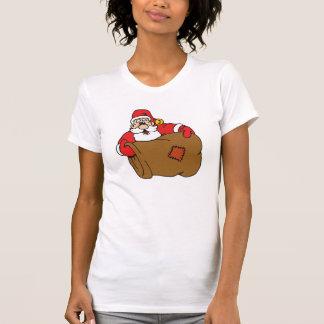 Santa con el saco vacío camisetas