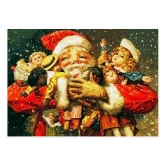 Santa con las muñecas tarjeta de visita