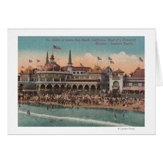 Santa Cruz CA - casino y playa de Santa Cruz Tarjeta