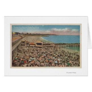 Santa Cruz CA - escena de la playa por completo d Felicitaciones