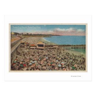 Santa Cruz, CA - escena de la playa por completo Postal