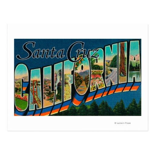 Santa Cruz, California - escenas grandes de la Tarjetas Postales