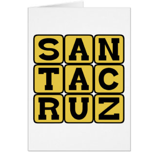 Santa Cruz ciudad en California Tarjetón