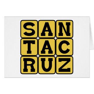 Santa Cruz, ciudad en California Tarjeta De Felicitación
