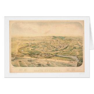 Santa Cruz, mapa panorámico del CA (1586A) - Unres Felicitacion