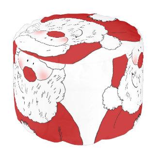 Santa de ruborización lindo puf