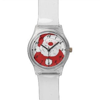 Santa de ruborización lindo reloj de pulsera