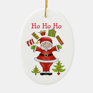Santa descarado adorno de cerámica