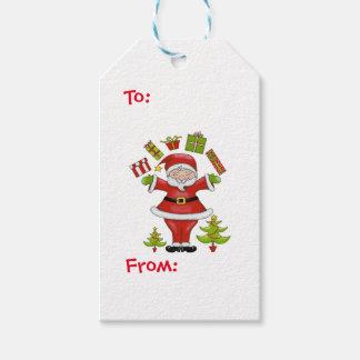 Santa descarado etiquetas para regalos