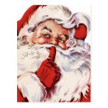 Santa dice Shhh Postales