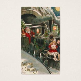 """""""Santa en etiqueta del regalo del vintage de un"""