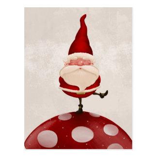 Santa en hongo postal