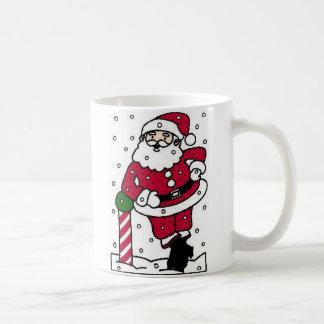 Santa en nieve taza