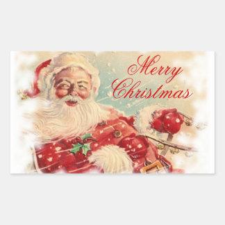 Santa en su pegatina del trineo