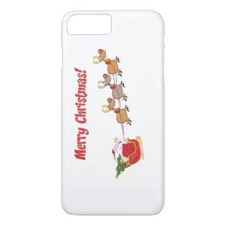 Santa en su trineo funda iPhone 7 plus